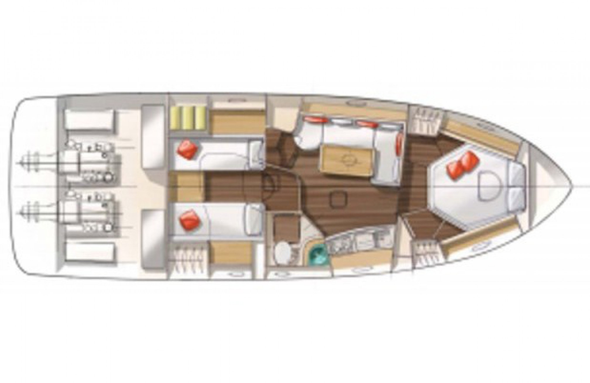 Rental yacht Monte Carlo 37 layout