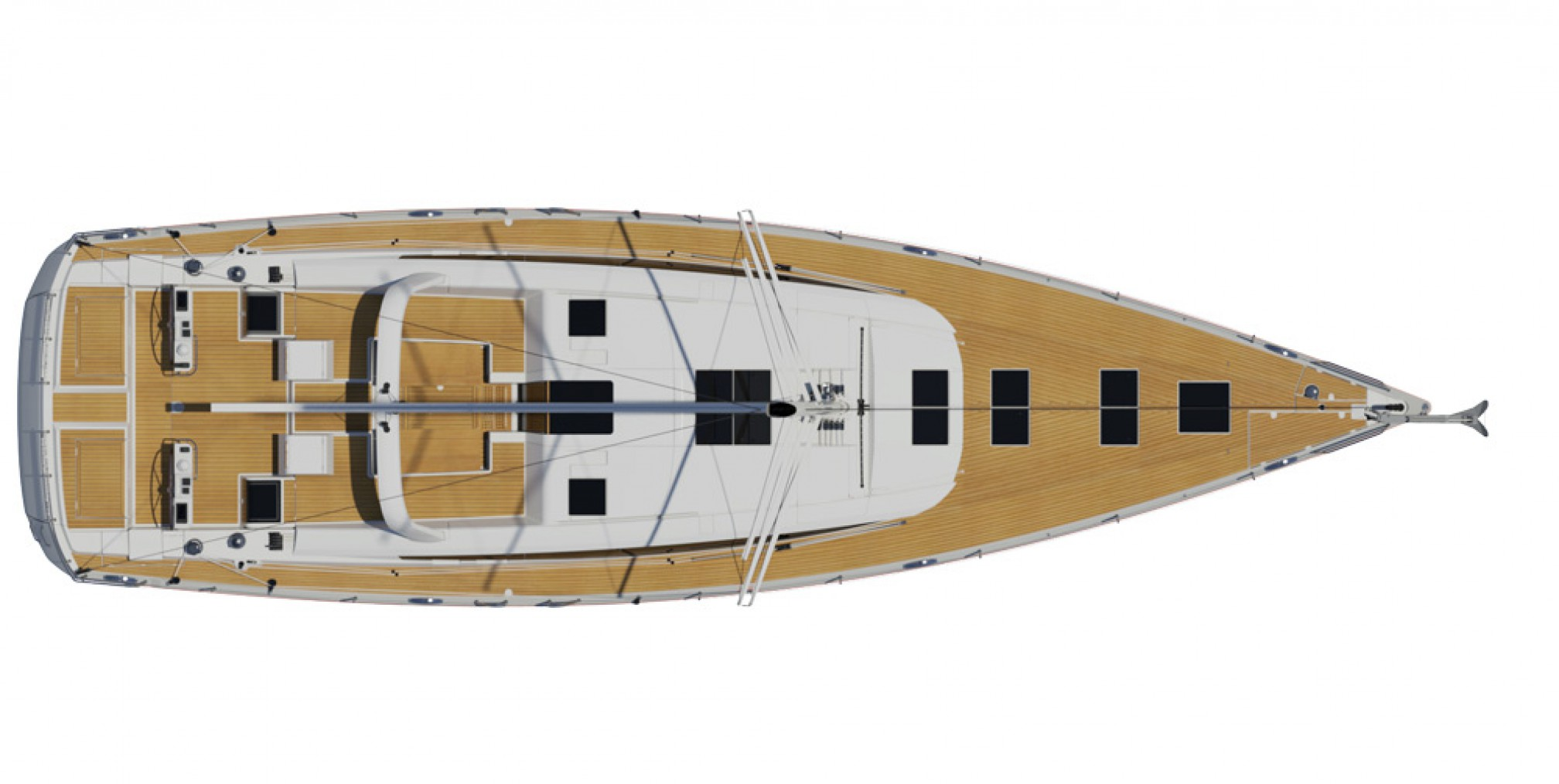 Rental sailing boat Jeanneau 64 layout
