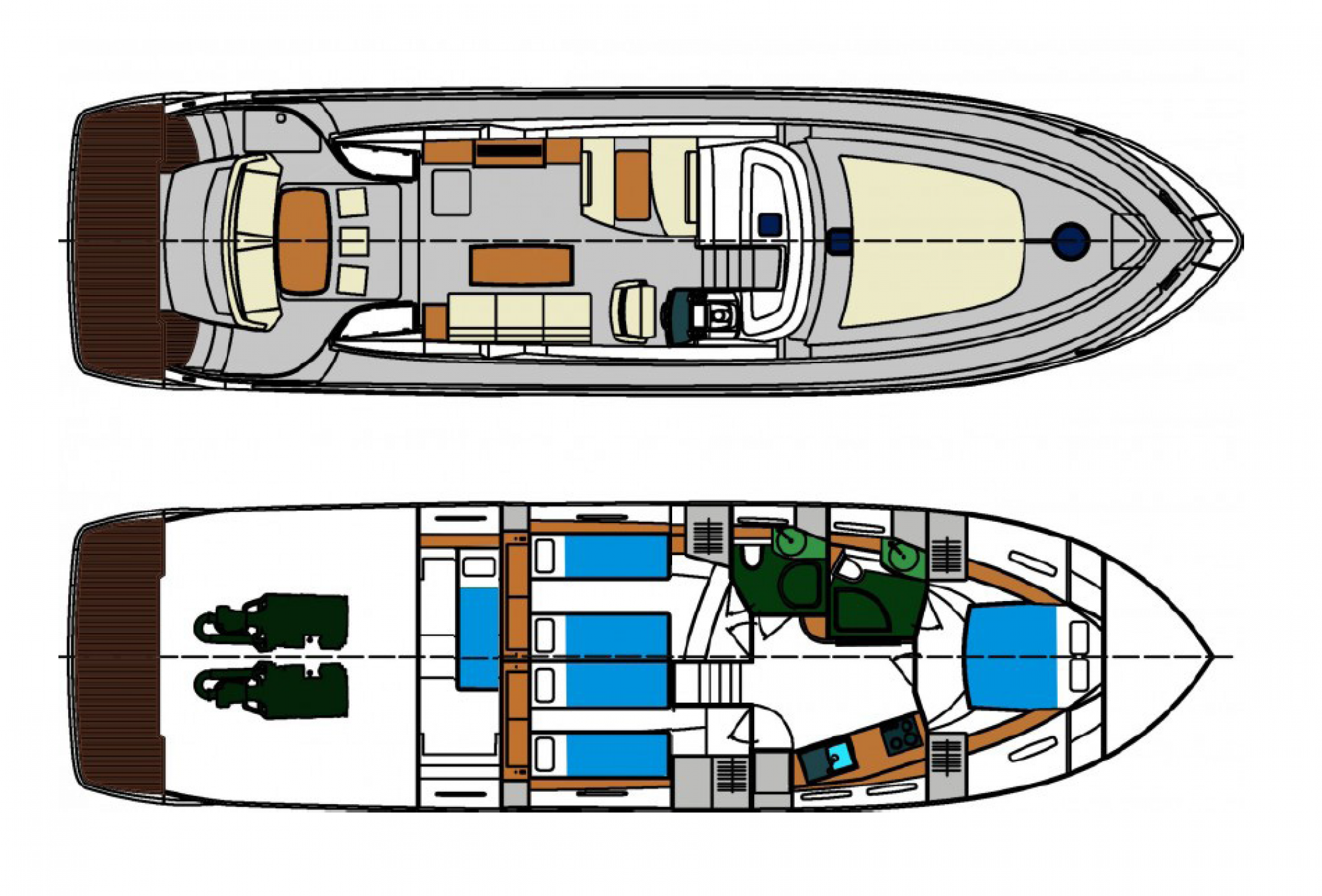 Rental yacht Prinz 58 layout