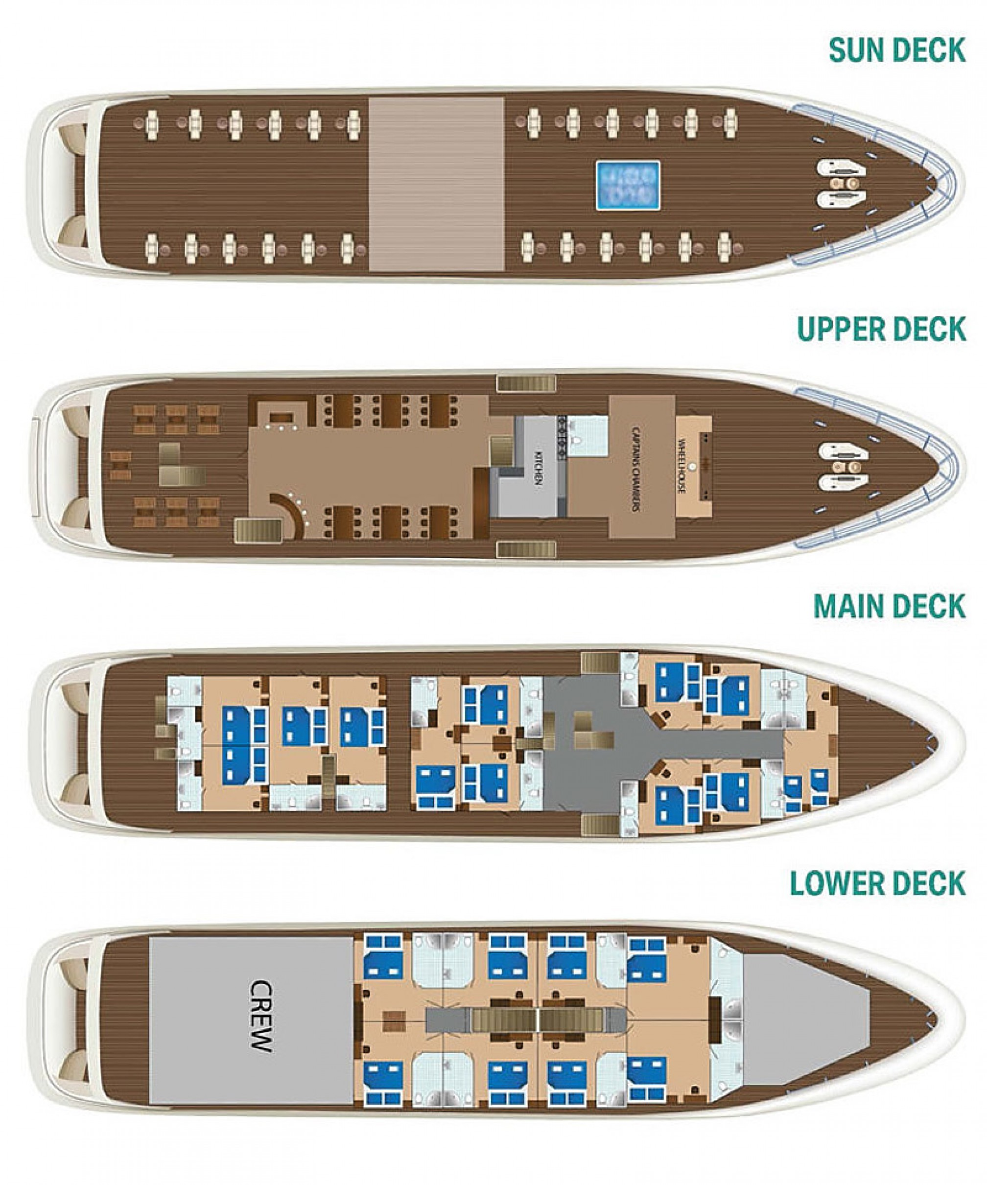 Rental yacht Diamond 40 pax layout
