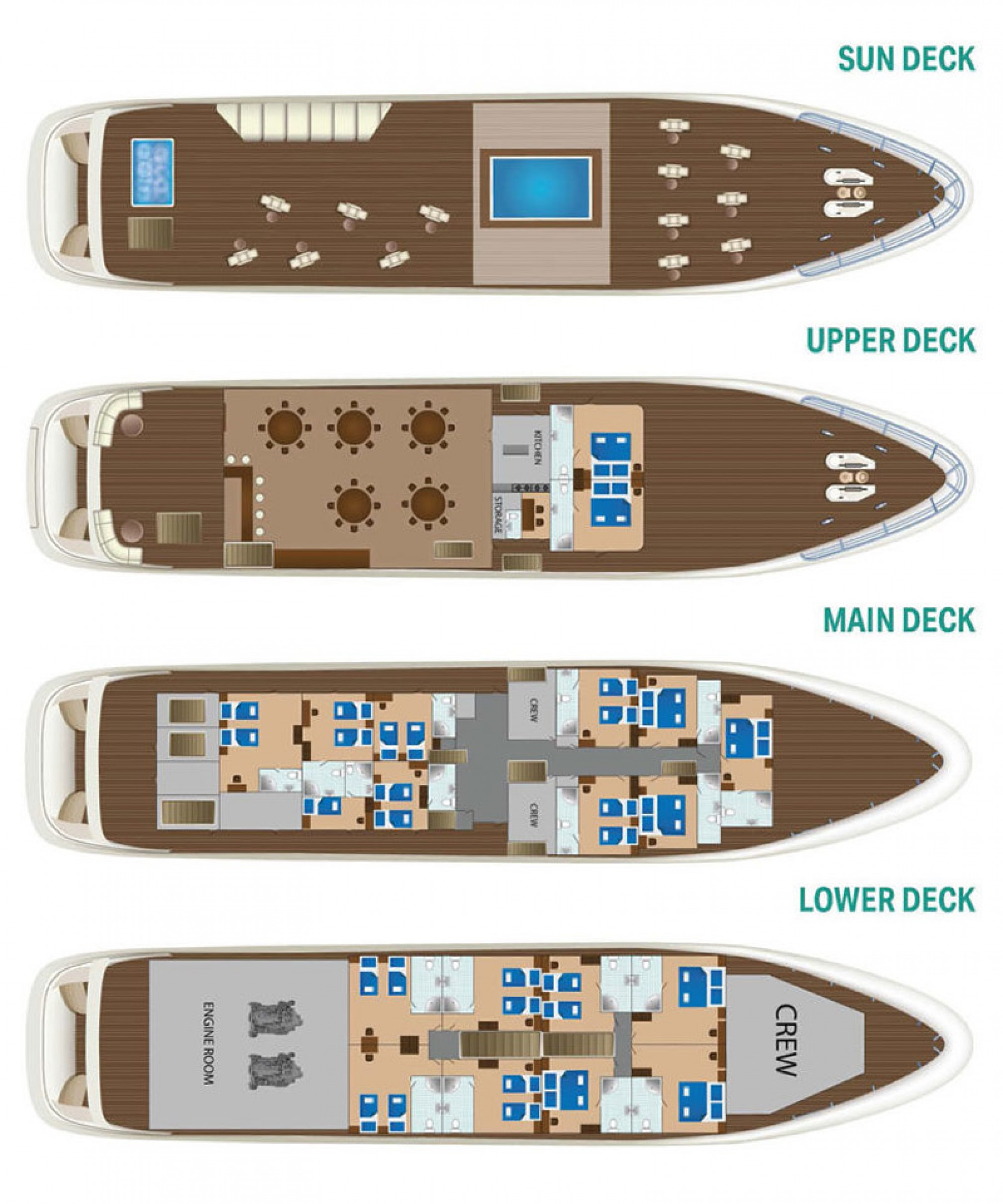 Rental yacht New Star 39 pax layout
