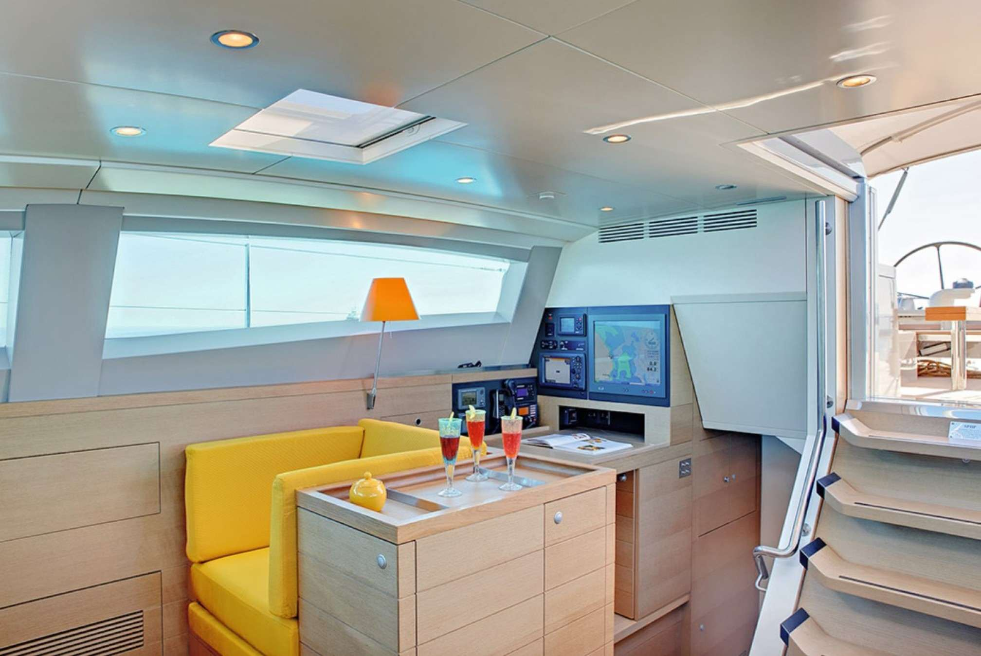 Lounge - CNB 86 - Sailboat charter with crew