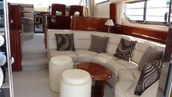 Princess 60 yacht charter, living