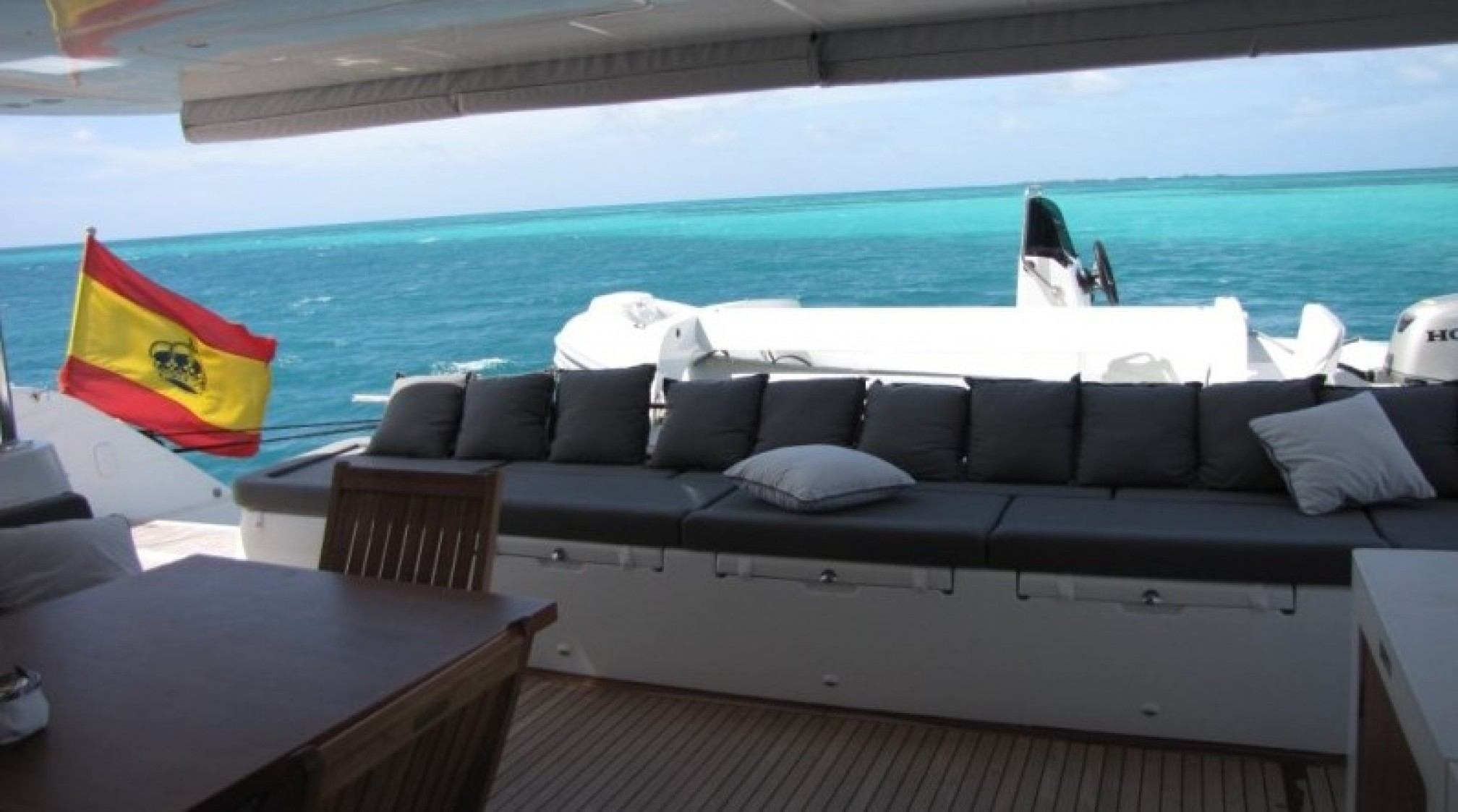 Firefly Luxury Catamaran Exterior Saloon