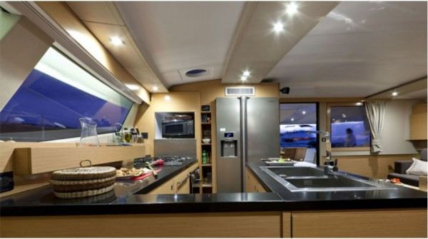 Sanya57 catamaran rent, kitchen
