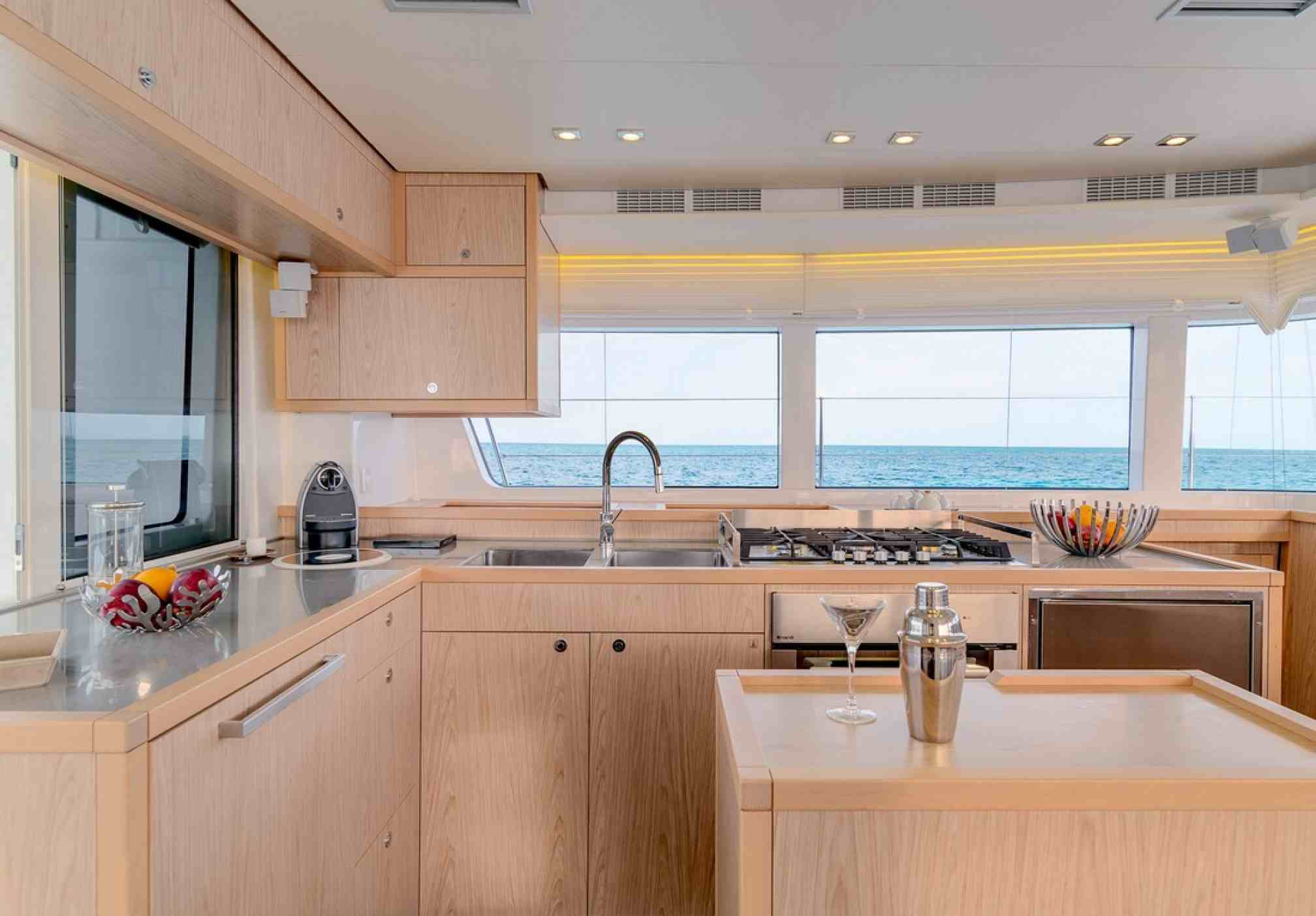 Lagoon 52S charter catamaran, kitchen