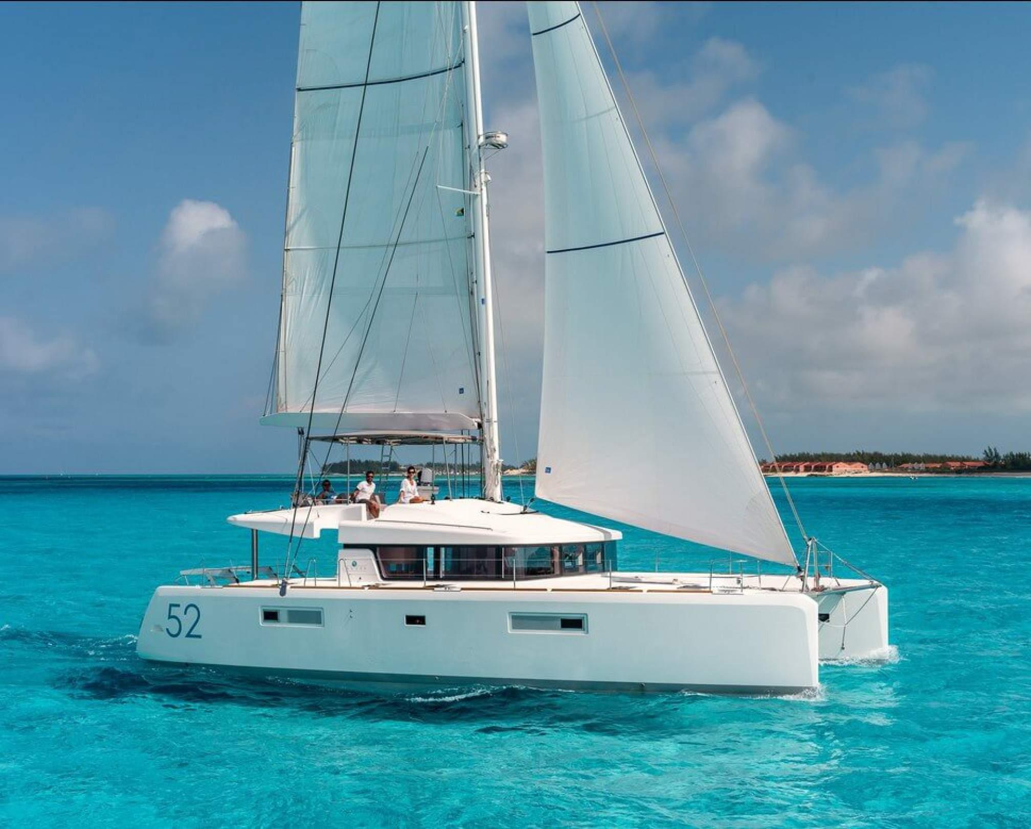 Lagoon 52F catamaran charter sailing