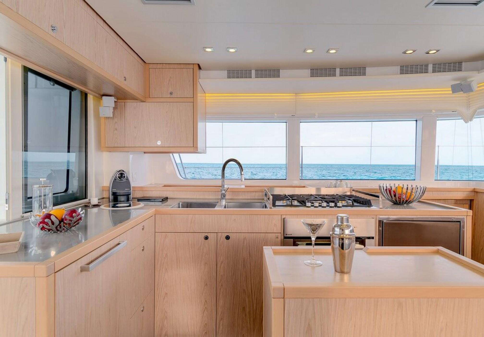 Lagoon 52F catamaran charter galley