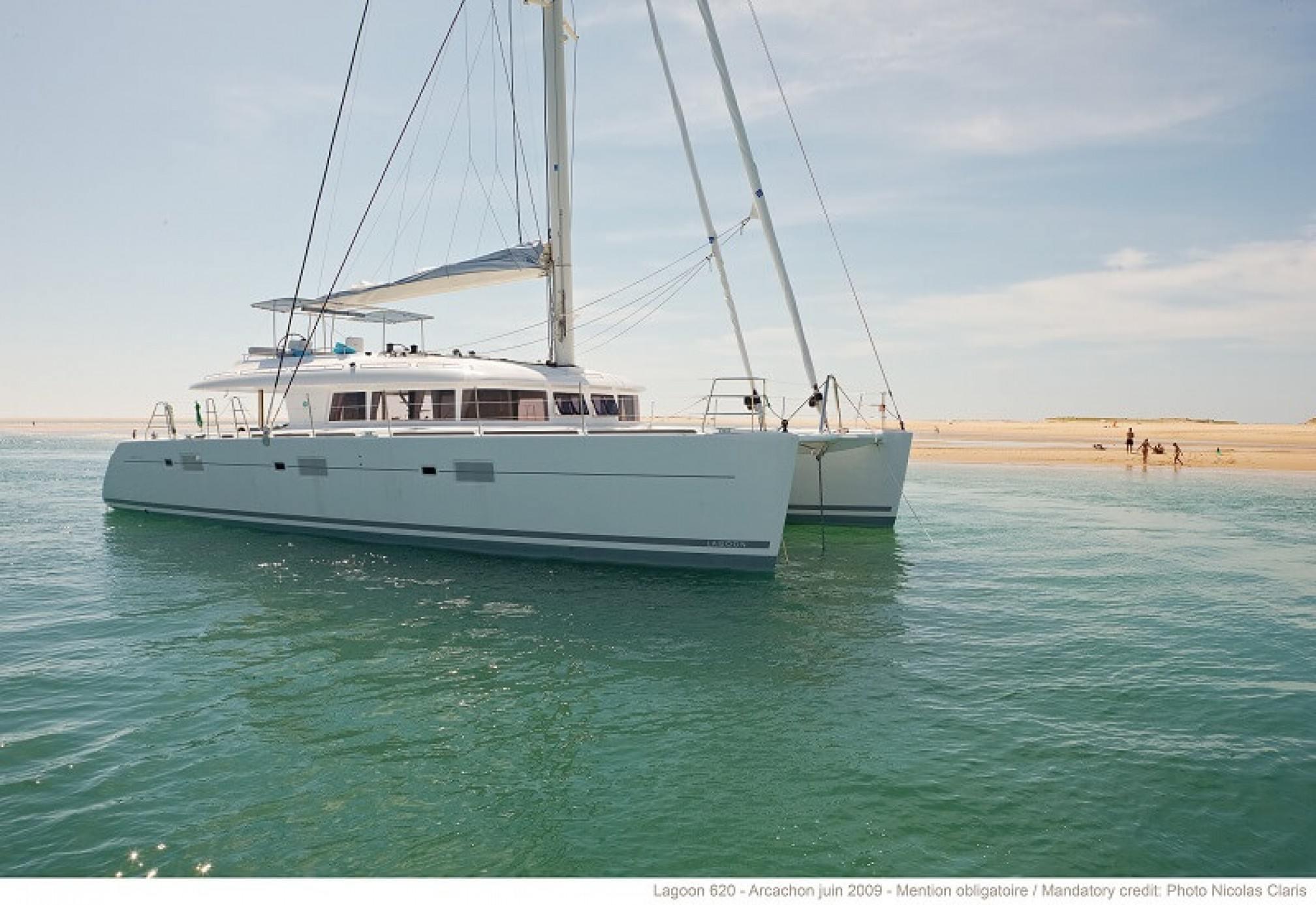 Lagoon 620 catamaran charter mooring