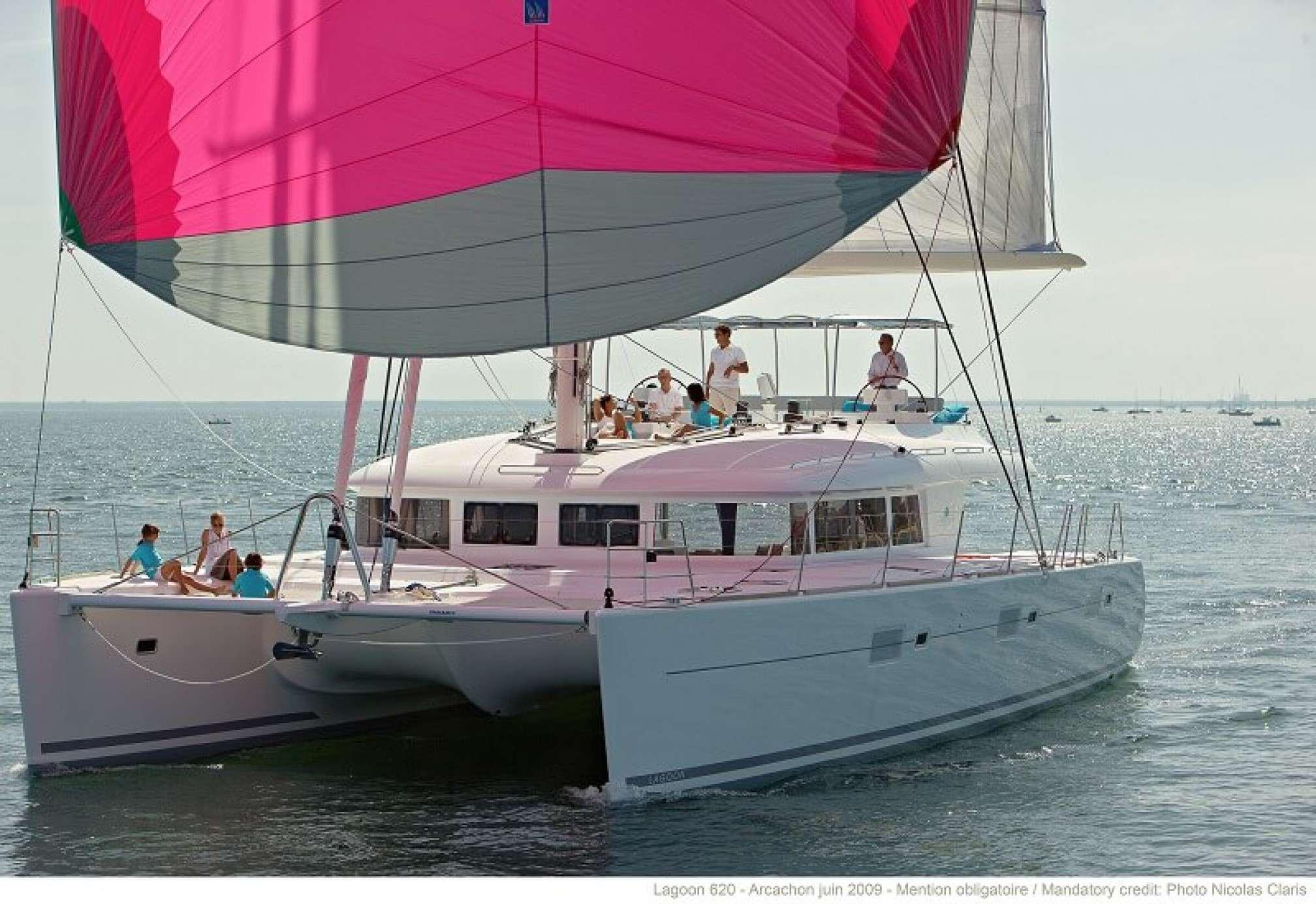 Lagoon 620 catamaran charter sailing