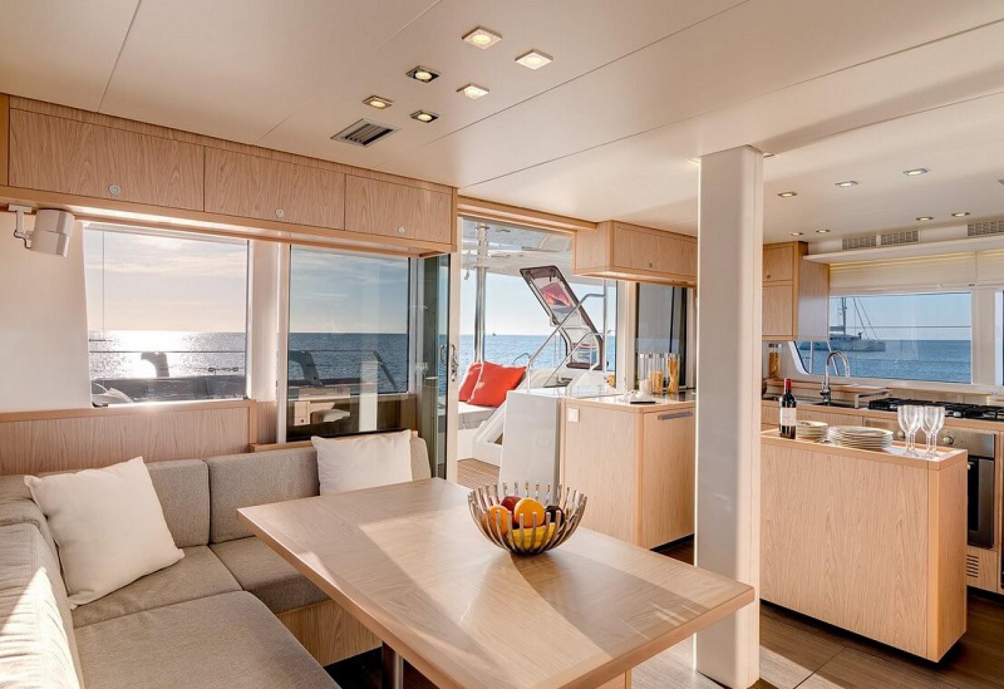 Lagoon 52F catamaran charter salon