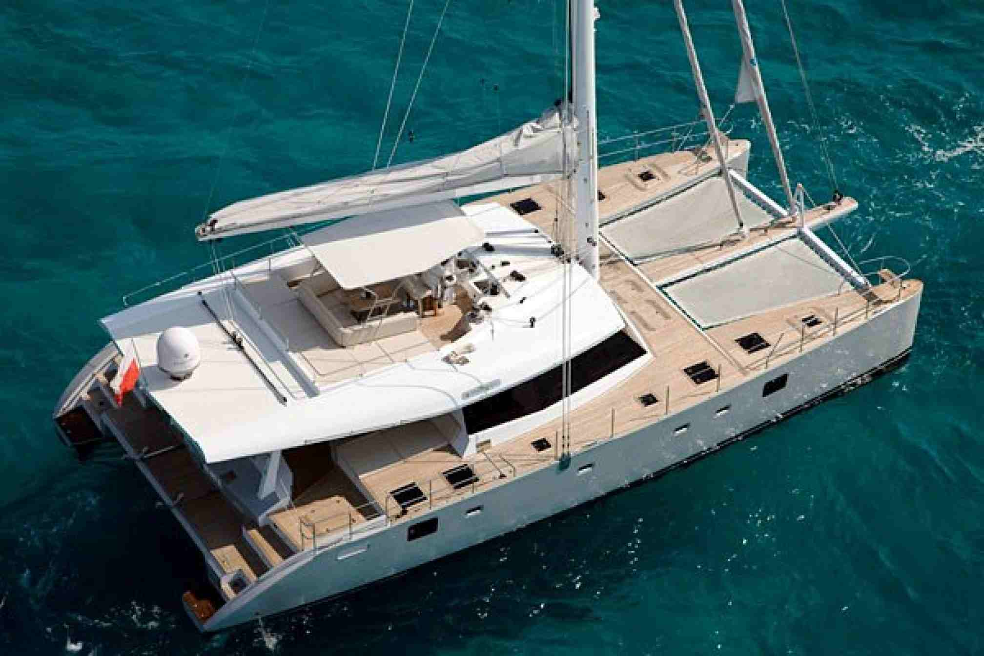 Sunreef 62 catamaran charter mooring