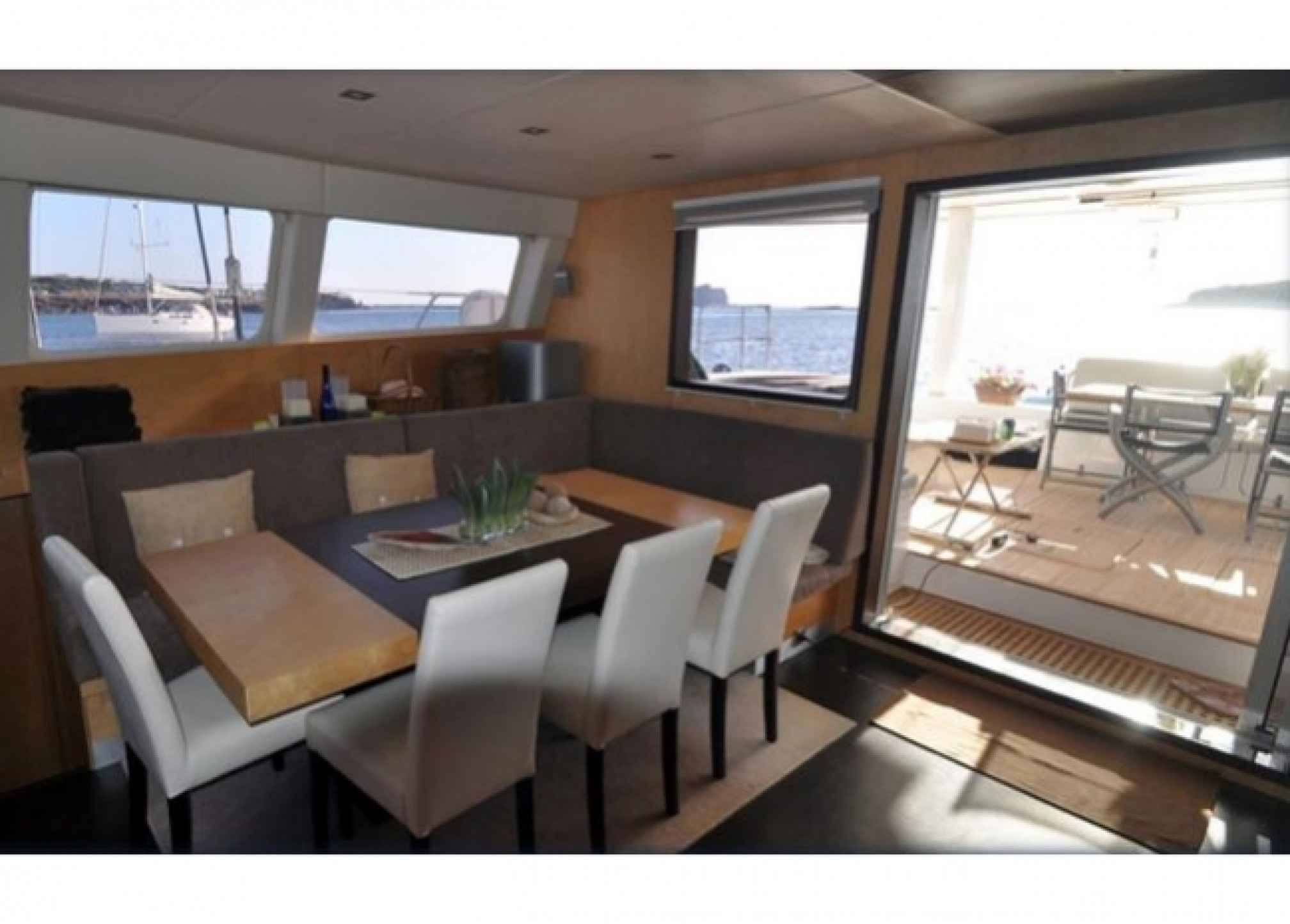 Sunreef 62 catamaran charter salon