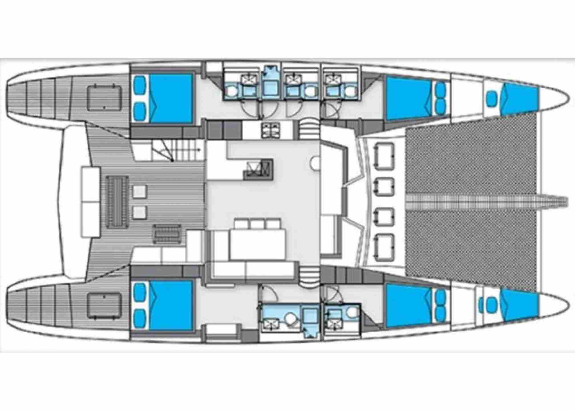 Sunreef 62 catamaran charter layout